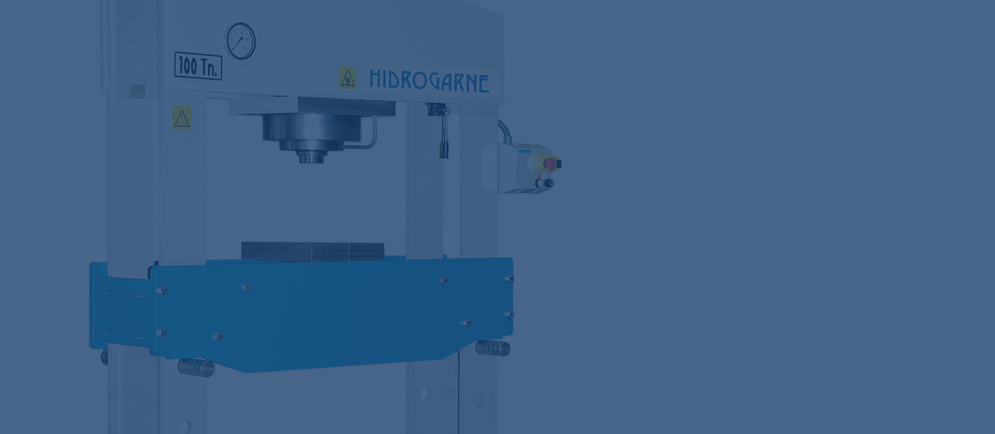 Motorized workshop presses with double stanchions: S series